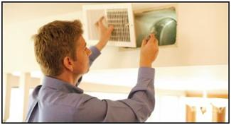 Our mold inspection services looking at a home